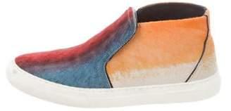 Pierre Hardy High-Top Ponyhair Sneakers