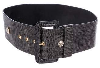 Temperley London Embossed Leather Belt