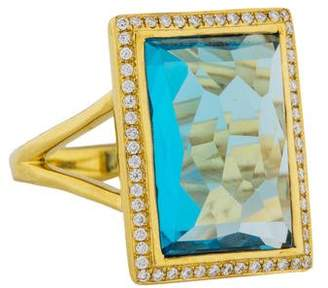 Ippolita 18K Topaz & Diamond Gelato Medium Baguette Ring