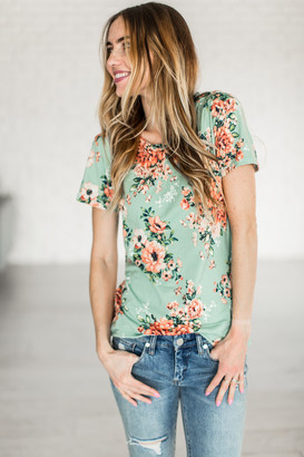 Poppy Tee - Mint $29.99 thestylecure.com