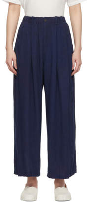 Blue Blue Japan Navy Hand-Dyed Wide Relax Trousers