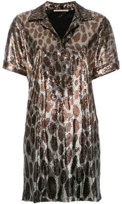 Marco De Vincenzo sequined leopard print polo dress