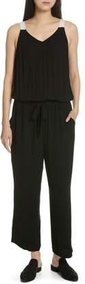 Eileen Fisher Drawstring Silk Jumpsuit