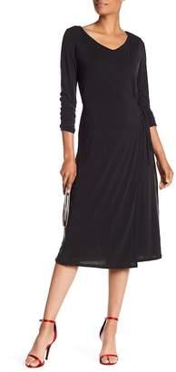 Catherine Malandrino Long Sleeves Tie Up Waist Dress