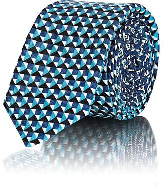 Prada Men's Mixed-Print Silk Necktie