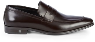 Versace Leather Penny Loafers