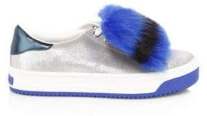 Marc Jacobs Empire Glitter Faux-Fur Platform Sneakers