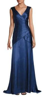 Kay Unger Tiered Wrap Gown