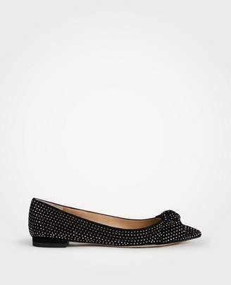 Ann Taylor Camryn Studded Bow Flats