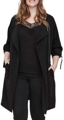 Junarose Plus Kaiza Long-Sleeve Trench Coat