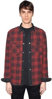 Diesel Reversible Denim & Checked Cotton Shirt