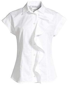 Max Mara Women's Mimma Sleeveless Ruffle Shirt