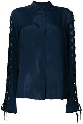 Just Cavalli cut-out sleeve shirt