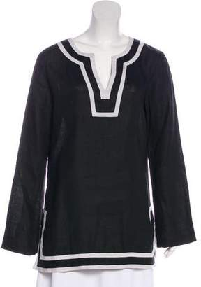 Michael Kors Linen Long Sleeve Tunic