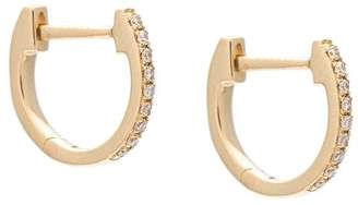 Ef Collection mini Huggie diamond earrings