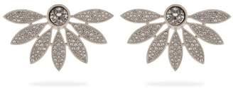 Burberry Half-daisy crystal-embellished stud earrings