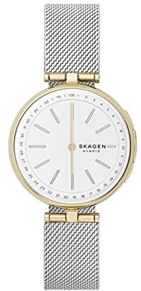Skagen Connected Women's Signatur T-Bar Two-Tone Stainless Steel Mesh Hybrid Smartwatch