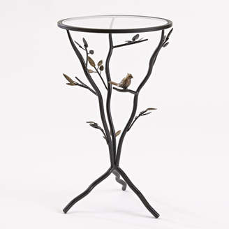 InnerSpace Luxury Products Glass Bird Table with Removable Glass Top