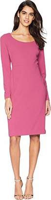 Betsey Johnson Women's Long Sleeve Scuba Crepe Midi Dress