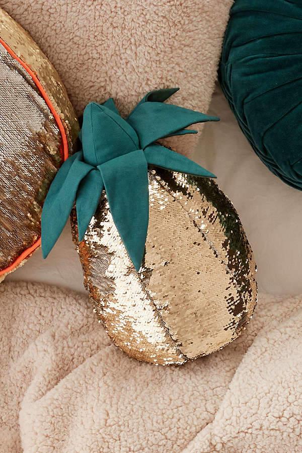 Reversible Sequin Pineapple Throw Pillow