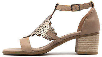 Django & Juliette New Dadami Silver Leather Womens Shoes Casual Sandals Heeled