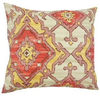 The Pillow Collection Helia Ikat Cotton Throw Pillow Cover The Pillow Collection