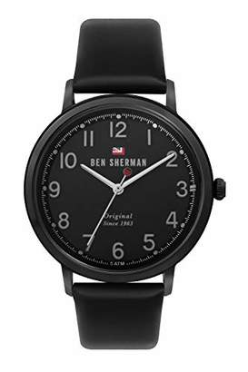 Ben Sherman Men's Quartz Stainless Steel and Leather Casual Watch
