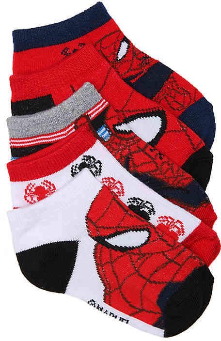 Spiderman Toddler No Show Socks - 5 Pack - Boy's