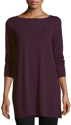 Eileen Fisher Easy Jersey Tunic with Slits $158 thestylecure.com