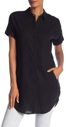 Catherine Malandrino Short Sleeve Button Front Tunic