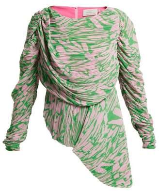Preen by Thornton Bregazzi Valerie Pleated Georgette Top - Womens - Pink Multi