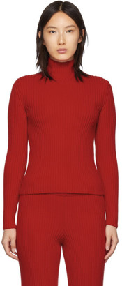 Balenciaga Red Wool and Cashmere Turtleneck