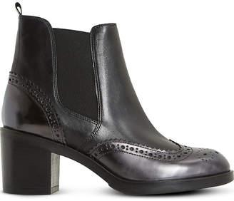 Dune Black Ladies Black Luxury Parke Leather Heeled Chelsea Boots