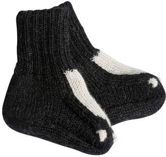 Oeuf Skunk Baby Alpaca Knit Socks