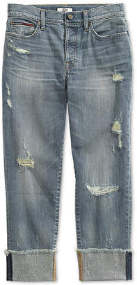 Tommy Hilfiger Adaptive Women's Boyfriend Jeans with Magnetic Fly