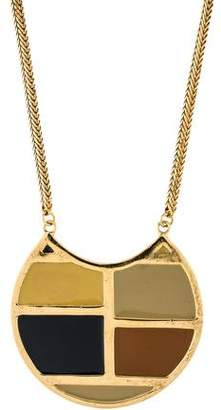 Lizzie Fortunato Enamel Pendant Necklace
