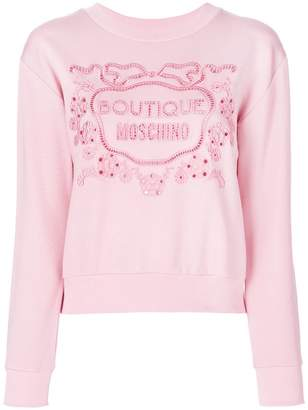 Moschino long sleeved logo sweater
