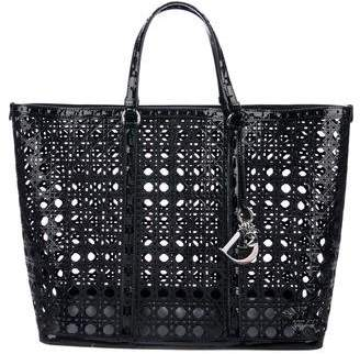 Christian Dior Patent Leather Perforated Cannage Tote