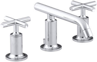 Kohler Purist Widespread Bathroom Sink Faucet with Low Cross Handles and Low Spout