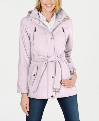 Michael Kors Petite Hooded Raincoat