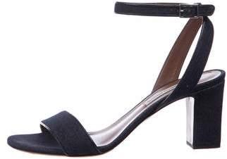 Tabitha Simmons Denim Ankle-Strap Sandals