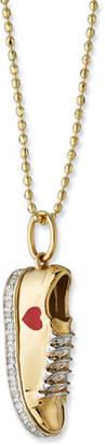 Sydney Evan 14k Gold Diamond Love Sneaker Necklace