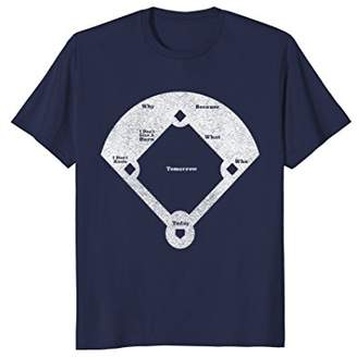 Who's On First Distressed T-Shirt Abbott Costello Tee