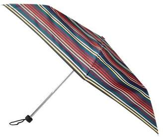 totes Red & Orange Multi Stripe Print Mini Umbrella (3 Section)