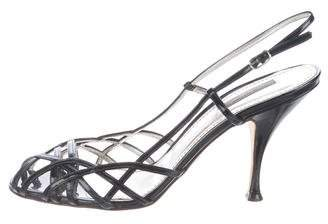 Dolce & Gabbana Patent Leather Slingback Sandals