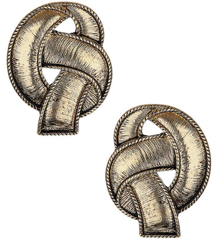 Brushed Knot Stud Earrings