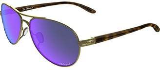 Oakley Women's Tie Breaker Polarized Iridium Aviator Sunglasses