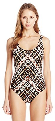 Jantzen Women's Animal One Piece Swimsuit with Strapping $89.99 thestylecure.com