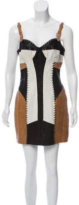 AllSaints Leather Mini Dress