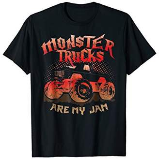 Monster Trucks Are My Jam T-Shirt Car Drive Distressed Tee